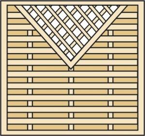 Płot diagonalny prosty