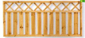 7Płot Sztachetowy Angus w ramie 4,4 x 4,4