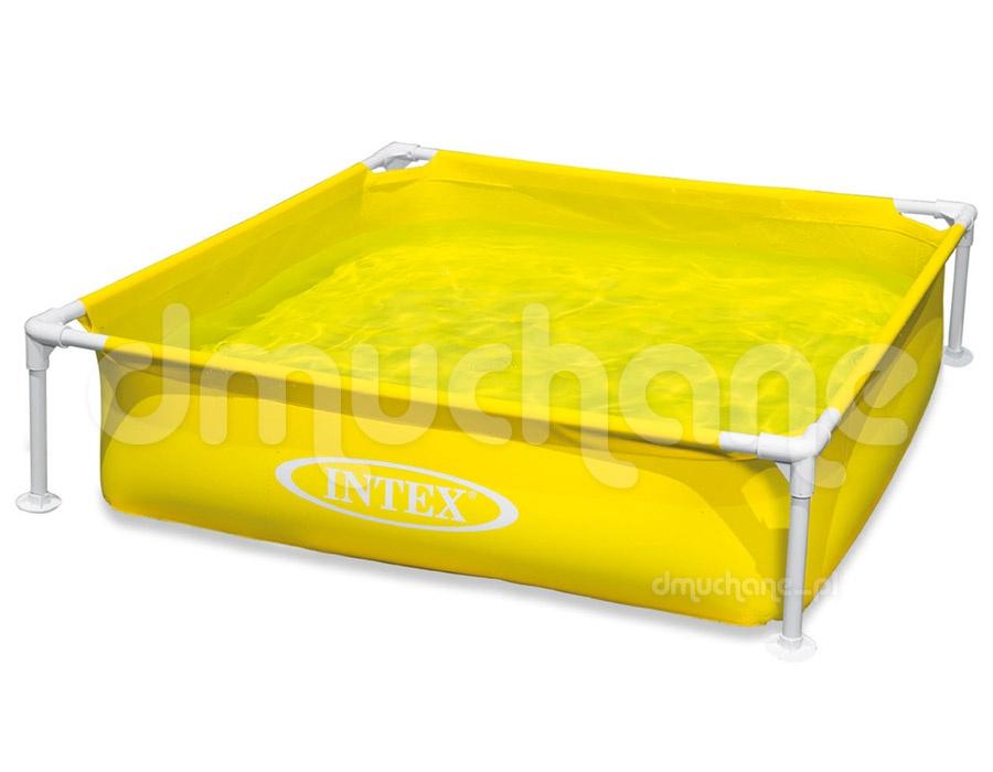 Basen stelażowy Mini dla dzieci żółty 122 x 122 x 30 cm INTEX 57172