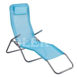 Leżak plażowy z poduszką