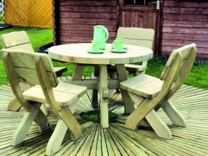 http://ogrodosfera.pl/komplet-ogrodowy-drewniany-milosz-z-okraglym-stolem