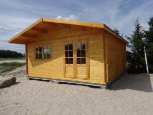 domek letniskowy drewniany podłoże